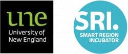 Logo for University of New England SMART Region Incubator