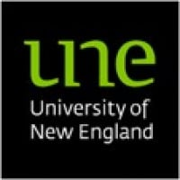 Logo for University of New England (UNE)